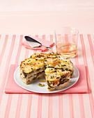 Potato and asparagus cake