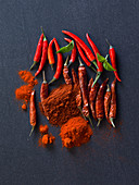 Chili peppers and chili powder