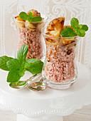 Quinoa with pineapple ragout