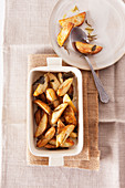 Potato wedges with sage and rosemary