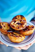 Pastéis de Belém (Blätterteigtörtchen mit Pudding, Portugal)