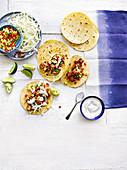 Tacos mit Cajun-Tofu und Weisskohl (Mexiko)