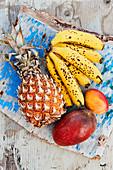 Bananas, mangoes and pineapple