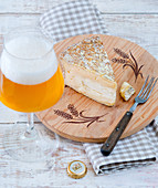 Raw milk cheese and beer