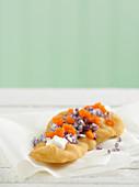 Lángos with sour cream