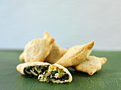 Samosas with potatoes and spinach