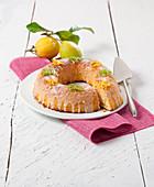 Zitronen-Frischkäse-Kuchen mit Zitronenglasur