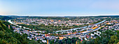 A panoramic view over Trier, Rhineland-Palatinate, Germany