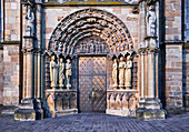 The entrance of the Church of Our Lady, Trier, Rhineland-Palatinate, Germany