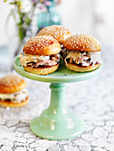 Easter sliders with chicken and colesalw