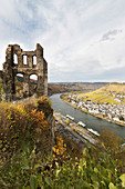 A view of Grevenburg and Traben-Trarbach, Rhineland-Palatinate, Germany