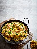 Perlhuhn Biryani (Reisgericht, Indien)