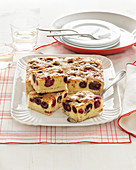 Cherry cake with shortcrust pastry