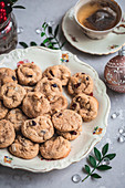 Cookies with cranberries and Brazil nuts