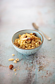Sweet couscous with dates and nuts (vegan)