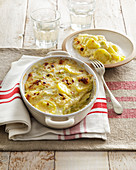 Tartifle coundiye (potato bake with fontina), Aostatal, Italy