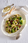 Cauliflower salad with beans and aioli