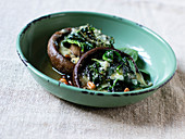 Portobello with Blue cheese and spinach