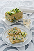 Polenta terrine with savoy cabbage and chard