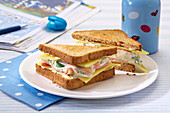 Toasted ham, quark and cheese toasties