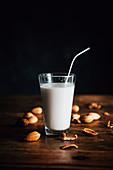 Almond Milk in a Glass