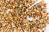 Crispy baked muesli with almonds and pecan nuts
