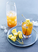 Spiced iced tea with pineapple and lemongrass