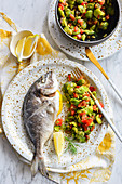 Sea bream with beans