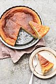 Peach and sour cream cake