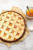 Apricot lattice tart