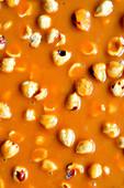 Hazelnuts sunk in caramel