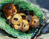 Roast pork with dried plums
