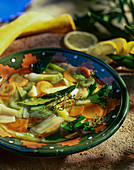 Vegetable soup with herbs