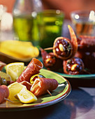Tapas (serrano ham, lemons and figs)