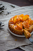 Cake with candied orange slices
