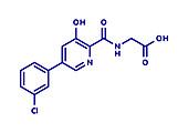Vadadustat drug molecule, illustration