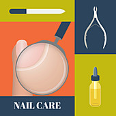 Nail care, illustration