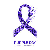 Epilepsy awareness ribbon, illustration