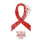 World AIDS day awareness ribbon, illustration