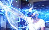 Virtual reality, conceptual image