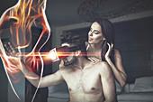 Virtual reality porn, conceptual image