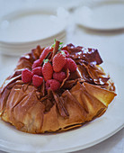 Filo pastry filled with cinnamon and berries