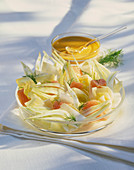 Fennel salad with salmon
