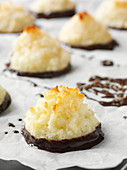 Coconut piles with chocolate