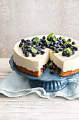Gluten-free blueberry quark cake