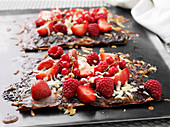Pizza with fresh berries