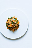 Carrot salad with peanuts