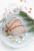 Vegan pate with walnuts and beans for Christmas