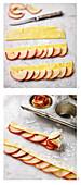 Apfelrosentarte zubereiten