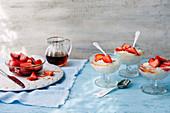 Arroz con Leche mit Sherry-Erdbeeren
